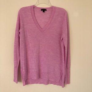 J. Crew V-Neck  Pink Lightweight Sweater
